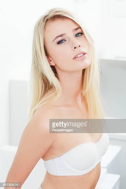 Wearing her feel-good underwear