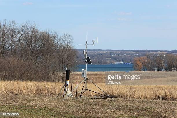 Wetter und Umwelt Überwachung Station im Frühjahr
