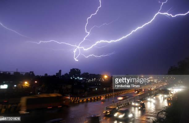 Weather Climate Night life Lightning at Goregaon Western Express Highway