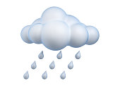 Weather icon Rain 3d rendering isolated illustration