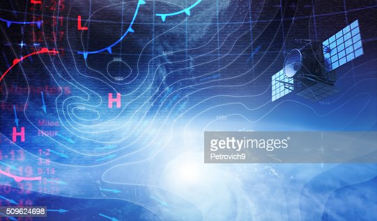 Weather map in Space : Stock Photo