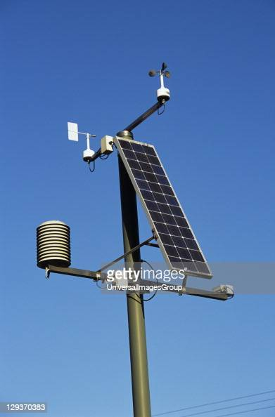 Weather monitoring station in Snowdonia Capel Curig Conwy North Wales United Kingdom