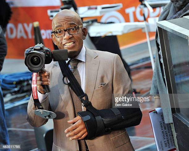 TV weather presenter Al Roker attends NBC's 'Today' at Rockefeller Plaza on April 9 2014 in New York City