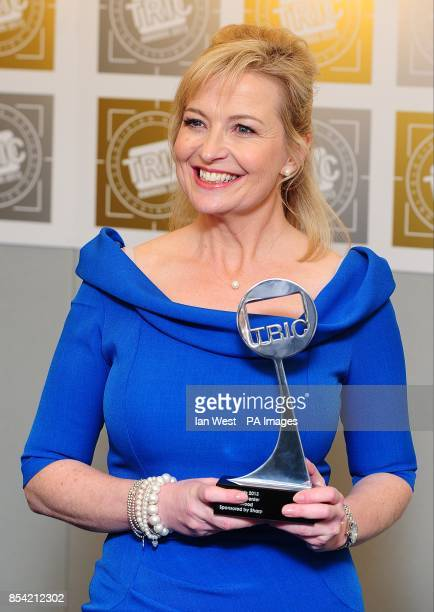 Weather Presenter of the year Carol Kirkwood at the 2013 TRIC Awards at Grosvenor House on Park Lane London