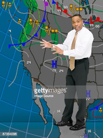 Weather presenter : Stock Photo