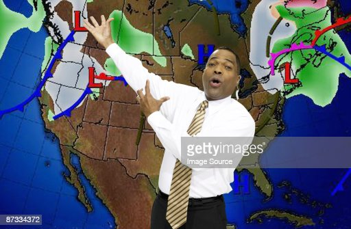 Weather presenter : Stock-Foto