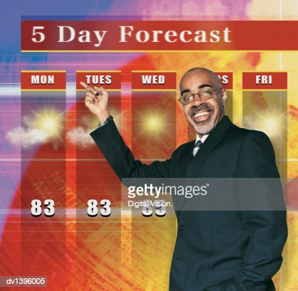 TV Weather Presenter : Bildbanksbilder