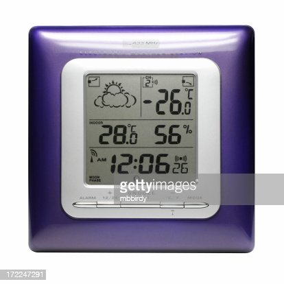 Weather station (clipping path), isolated on white background