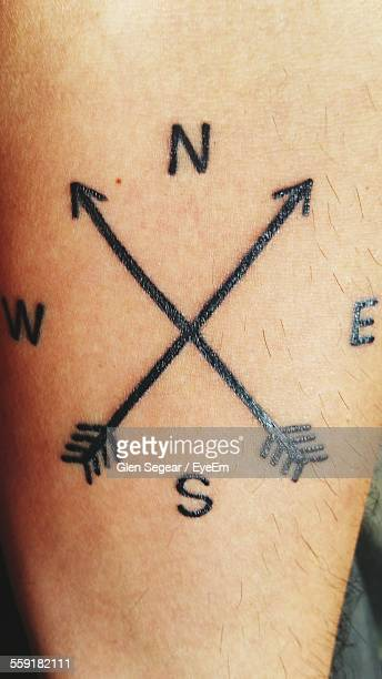 Weather Vane Tattoo On Persons Wrist