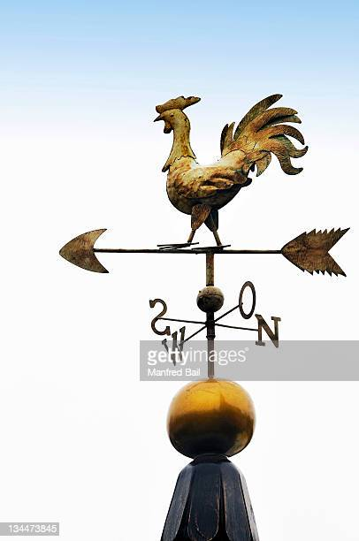 Weather vane with letters indicating the points of the compass, Bavaria, Germany, Europe