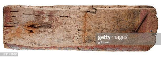 weatherd plank of driftwood