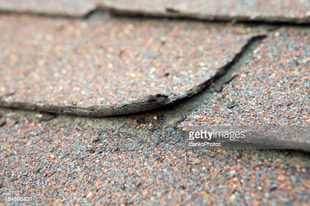 Weathered and Damaged House Shingle