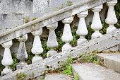 Weathered Balustrade on Garden Steps