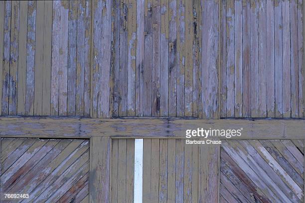 Weathered barn siding