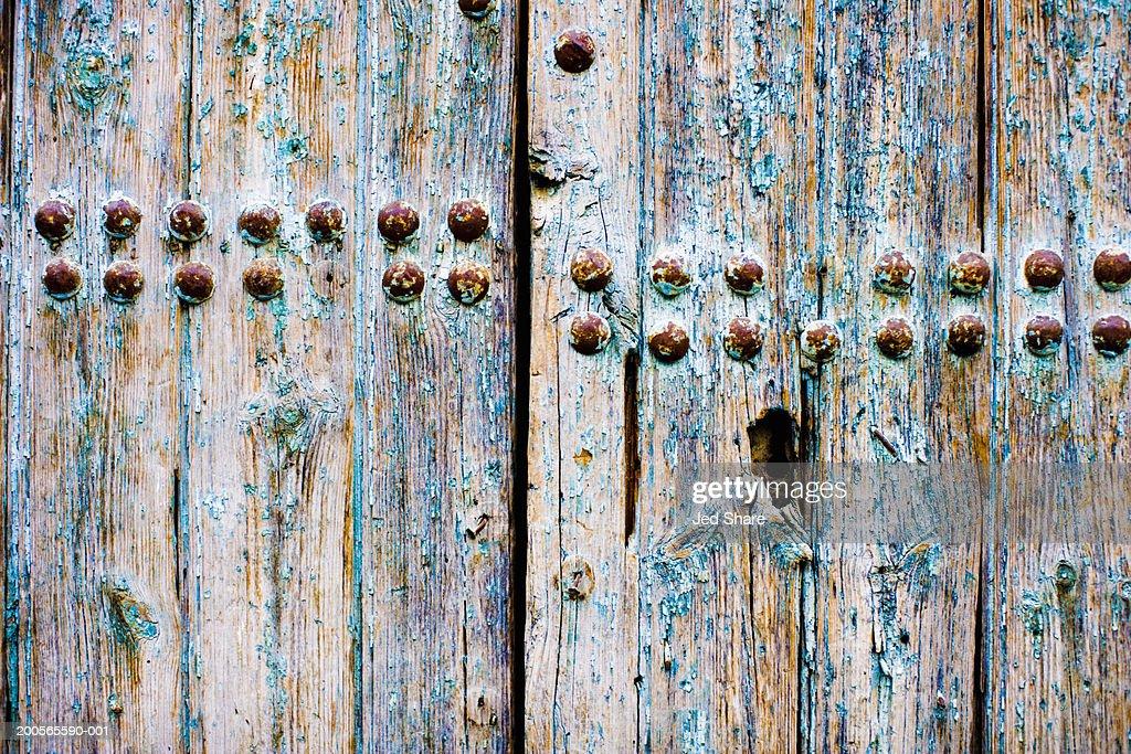 Weathered door, close-up : Stock Photo