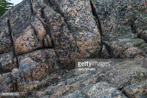 Weathered Granite, Acadia NP : Stock Photo