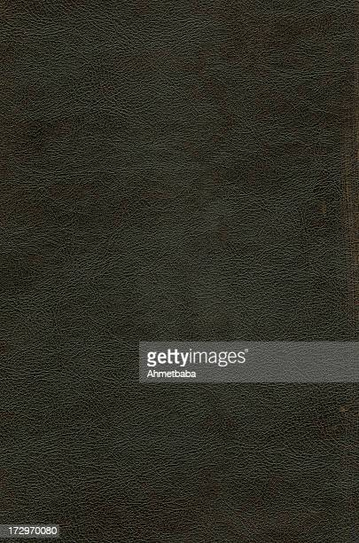 Weathered looking black leather background