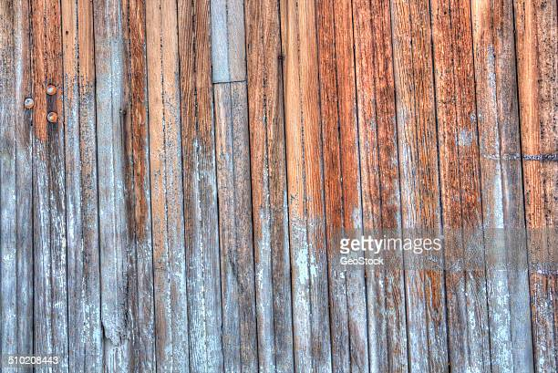 Weathered planks on a barn