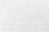White brick wall for texture background.