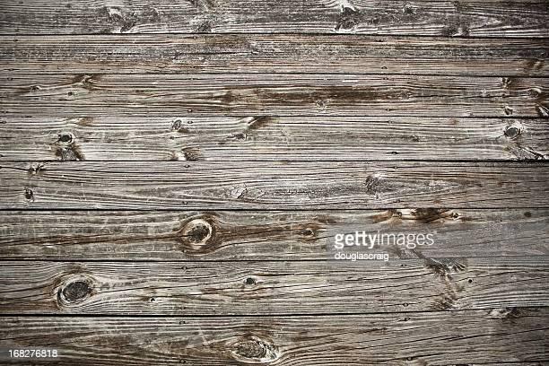 Terraza de madera antigua