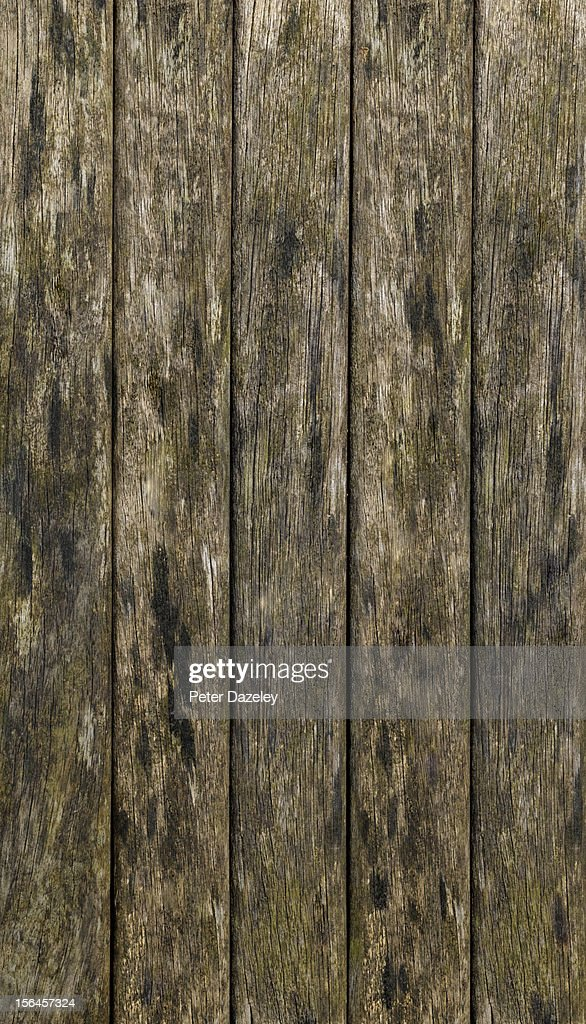 Weathered wooden decking, full frame