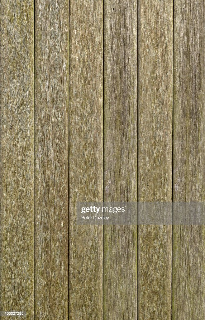 Weathered wooden decking : Stock Photo