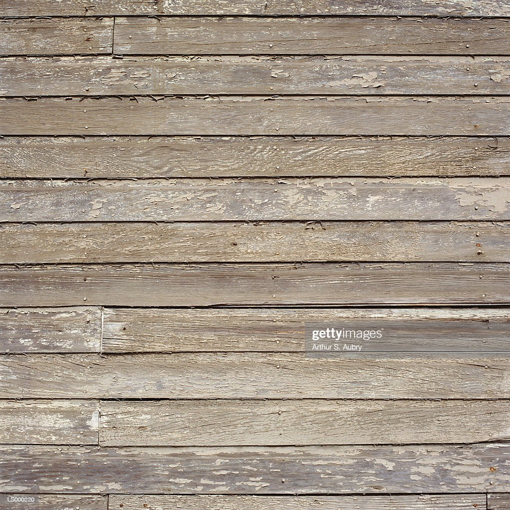 Weathered wooden exterior wall, full frame