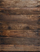 Weathered wooden planks background with nails
