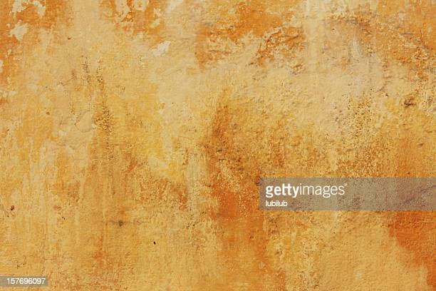 Weathered yellow wall background