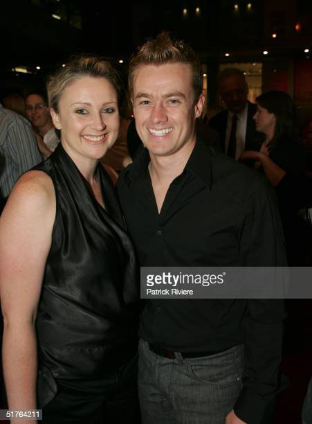 TV weatherman Grant Denyer and his companion attend the world premiere of the staged production of 'Dirty Dancing' at the Royal Theatre November 18...