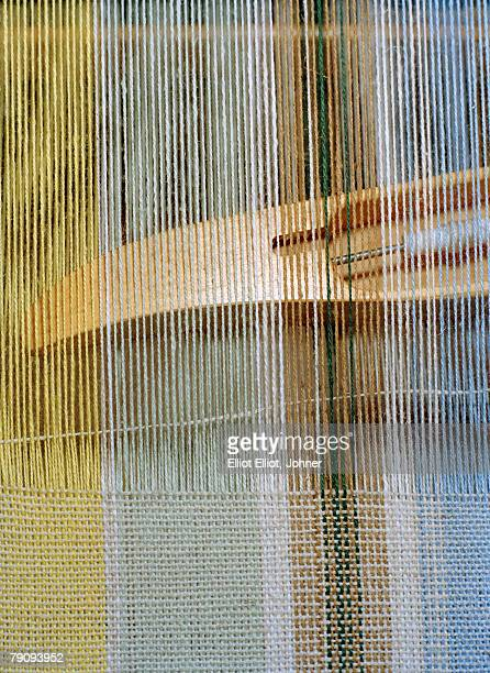 A weave in a loom.
