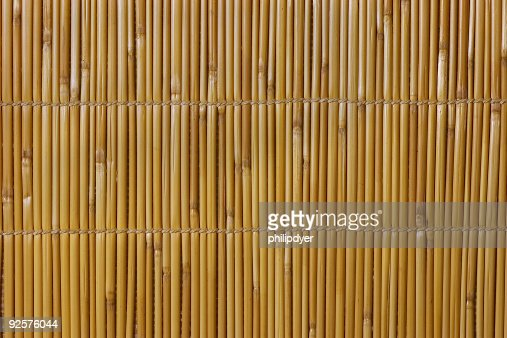 Weaved bamboo thatch.
