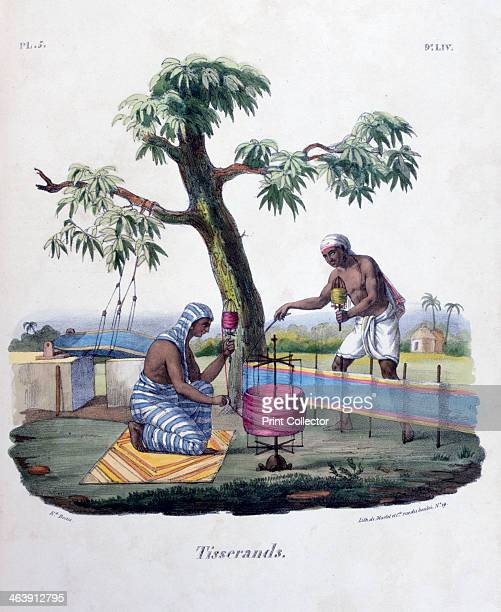 'Weavers' 1828 A lithograph from L'Inde Français 1828 From the collection of Jean Claude Carriere