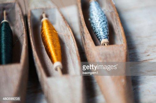 weaving silk : Stock Photo