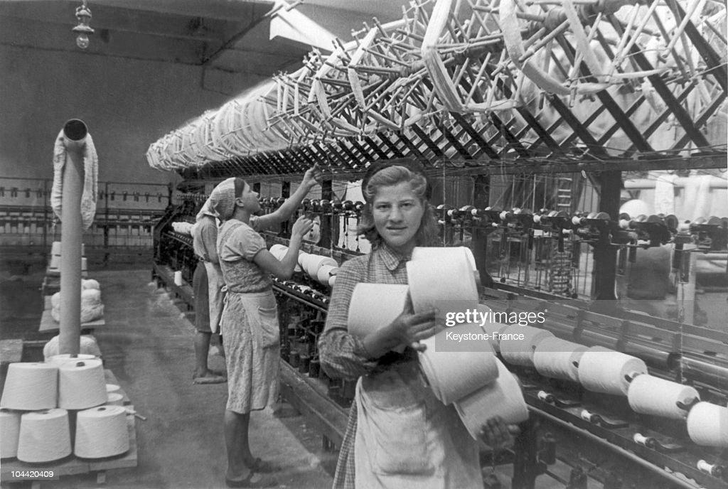 Weaving Workshop In Smolensk Aound 19451950