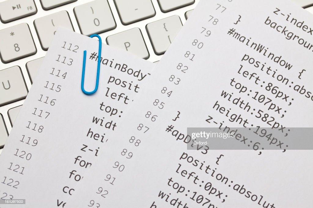 Web code on keyboard : Stock Photo