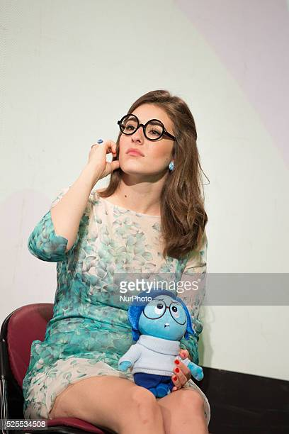 Web Talent Coach Show Diana Del Bufalo during a press conference for presentation the a great competition inspired by the funny charactersthe new...