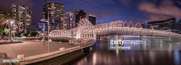 Webb bridge in Dockland, Melbourne, Australia