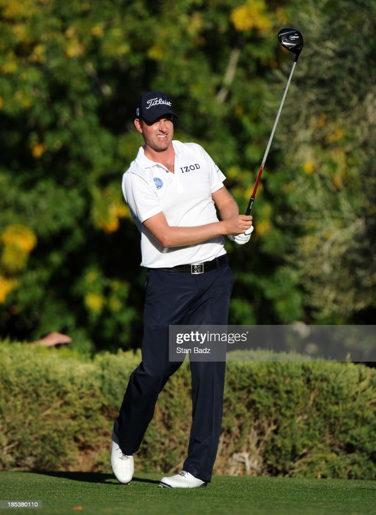 <a gi-track='captionPersonalityLinkClicked' href=/galleries/search?phrase=Webb+Simpson&family=editorial&specificpeople=4466575 ng-click='$event.stopPropagation()'>Webb Simpson</a> hits a drive on the 16th hole during the third round of the Shriners Hospitals for Children Open at TPC Summerlin on October 19, 2013 in Las Vegas, Nevada.