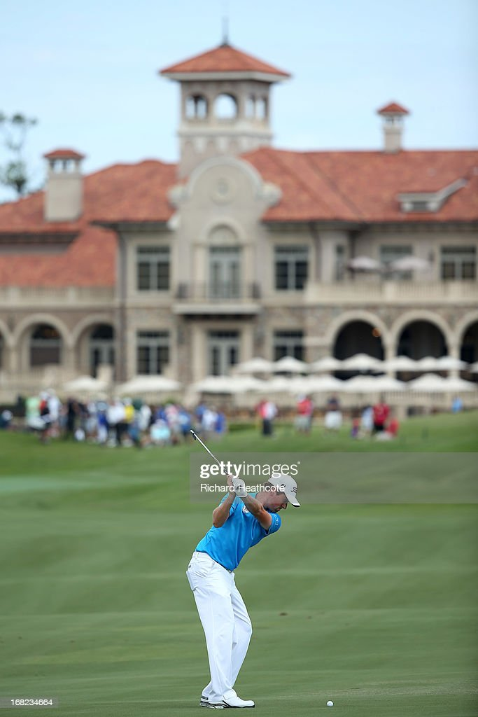 Webb Simpson of the USA in action during a practise round for THE PLAYERS Championship at TPC Sawgrass on May 7, 2013 in Ponte Vedra Beach, Florida.