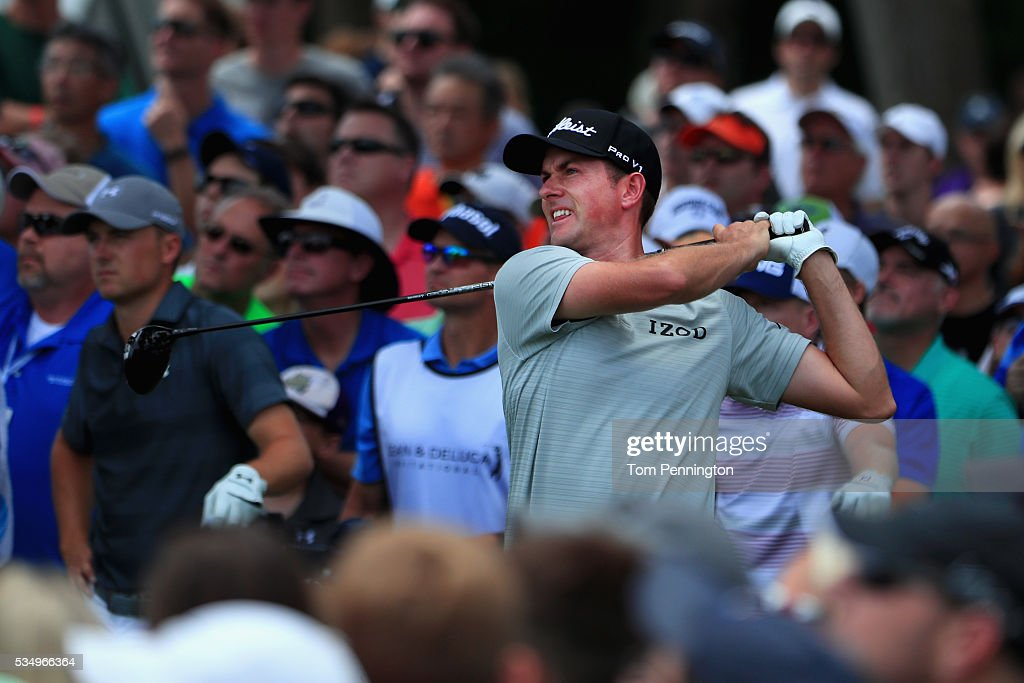 <a gi-track='captionPersonalityLinkClicked' href=/galleries/search?phrase=Webb+Simpson&family=editorial&specificpeople=4466575 ng-click='$event.stopPropagation()'>Webb Simpson</a> plays his shot from the third tee during the Third Round of the DEAN & DELUCA Invitational at Colonial Country Club on May 28, 2016 in Fort Worth, Texas.