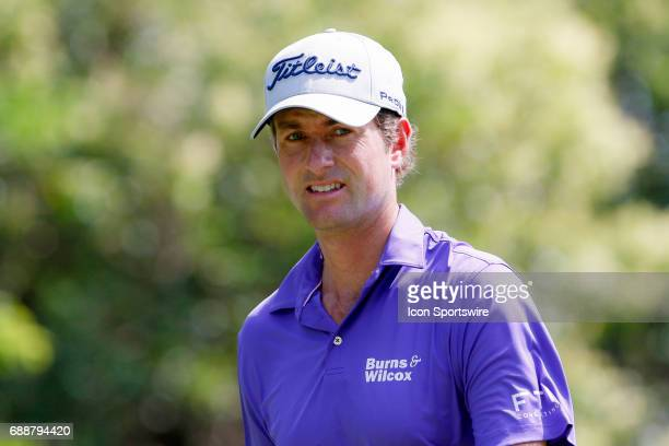 Webb Simpson walks off of the 12th tee box during the second round of the Dean Deluca Invitational on May 26 2017 at Colonial Country Club in Fort...
