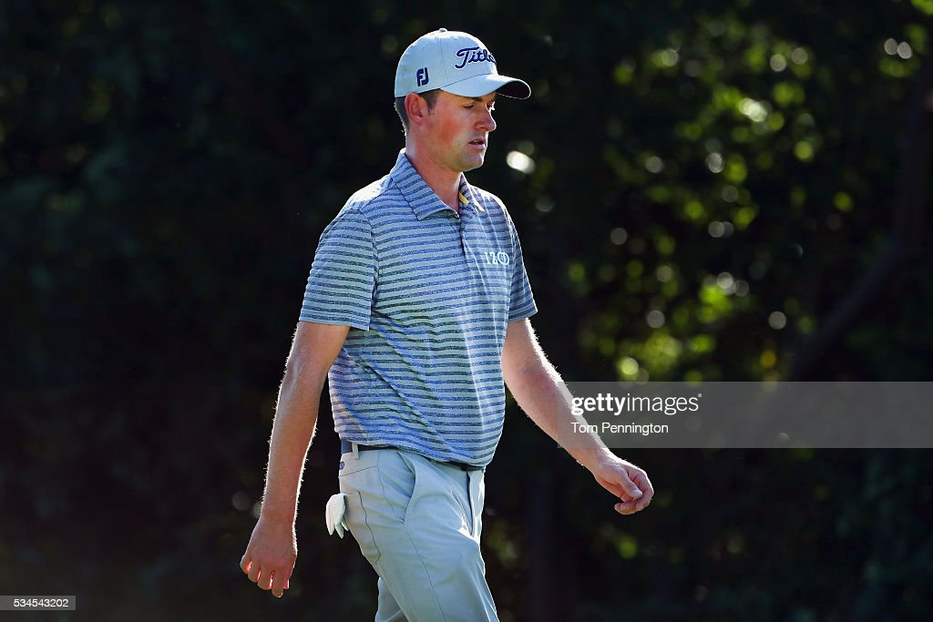 <a gi-track='captionPersonalityLinkClicked' href=/galleries/search?phrase=Webb+Simpson&family=editorial&specificpeople=4466575 ng-click='$event.stopPropagation()'>Webb Simpson</a> walks off the seventh green during the First Round of the DEAN & DELUCA Invitational at Colonial Country Club on May 26, 2016 in Fort Worth, Texas.