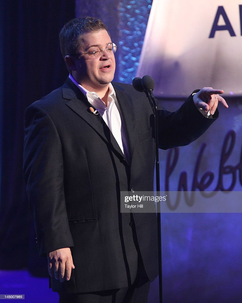 Webbys host Patton Oswalt speaks during the 16th Annual Webby Awards at Hammerstein Ballroom on May 21, 2012 in New York City.