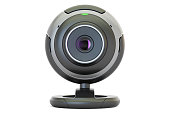 Webcam, 3D rendering isolated on white background