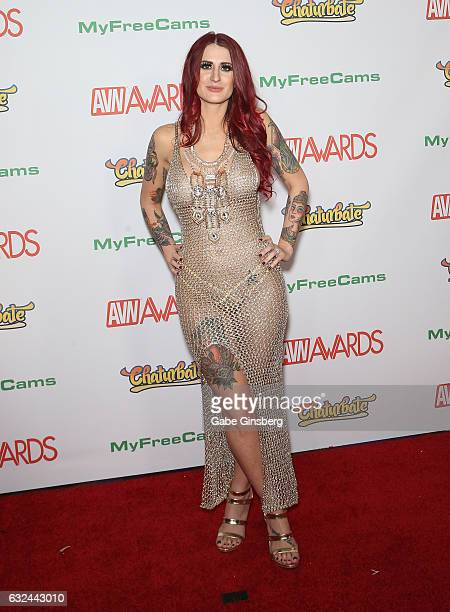 Webcam model Tana Lea attends the 2017 Adult Video News Awards at the Hard Rock Hotel Casino on January 21 2017 in Las Vegas Nevada