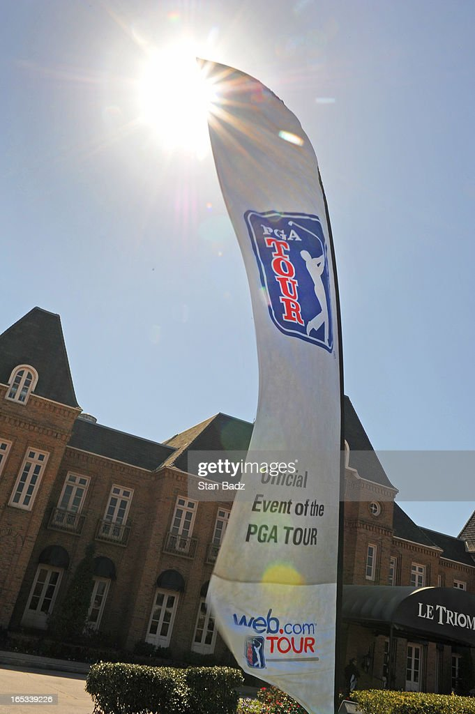 A web.com Tour flag is seen during the final round of the Chitimacha Louisiana Open at Le Triomphe Country Club on March 24, 2013 in Broussard, Louisiana.