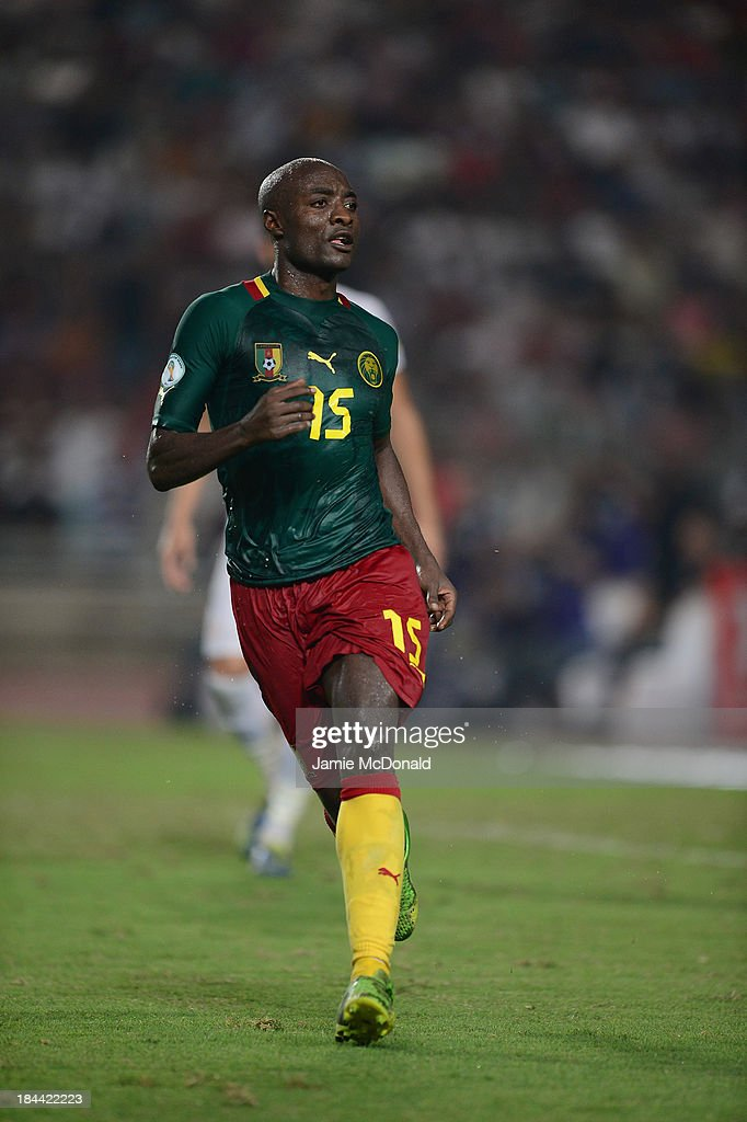 Webo Kouamo of Cameroon in action during the FIFA 2014 World Cup qualifier at the Stade Olympique de Radès on October 13, 2013 in Rades, Tunisia.