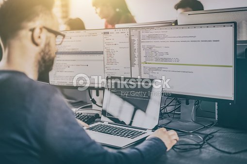 Website design. Developing programming and coding technologies. : Stock Photo
