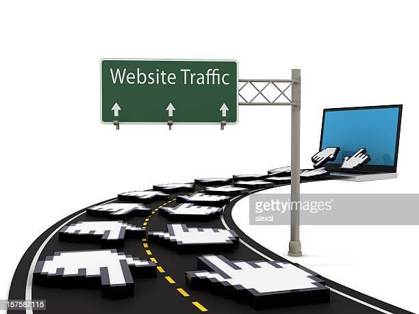 Site Web avec trafic